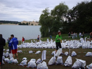 Frankfurt City Triathlon 2011 transition zone #1