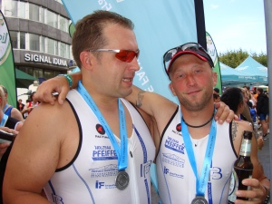 Frankfurt City Triathlon 2011 finish