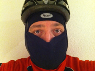 Preparing for a bike ride at -10°C